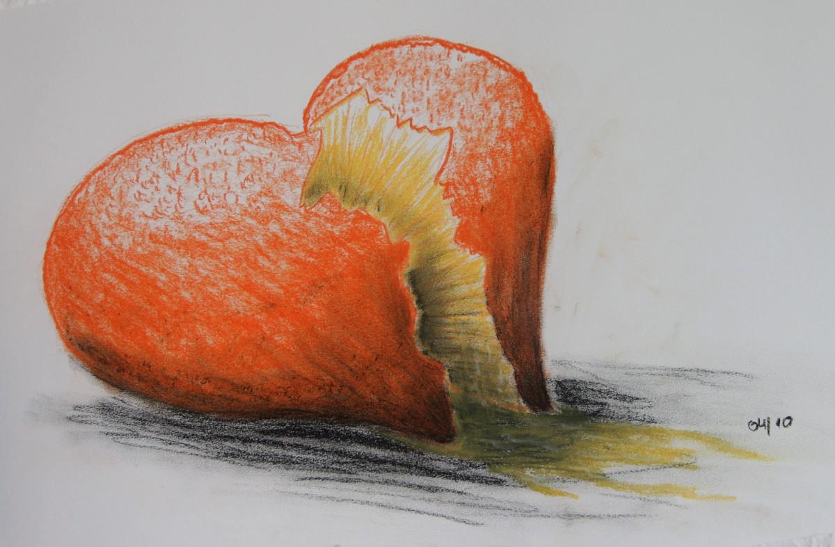 Bild eines Orangeherzen