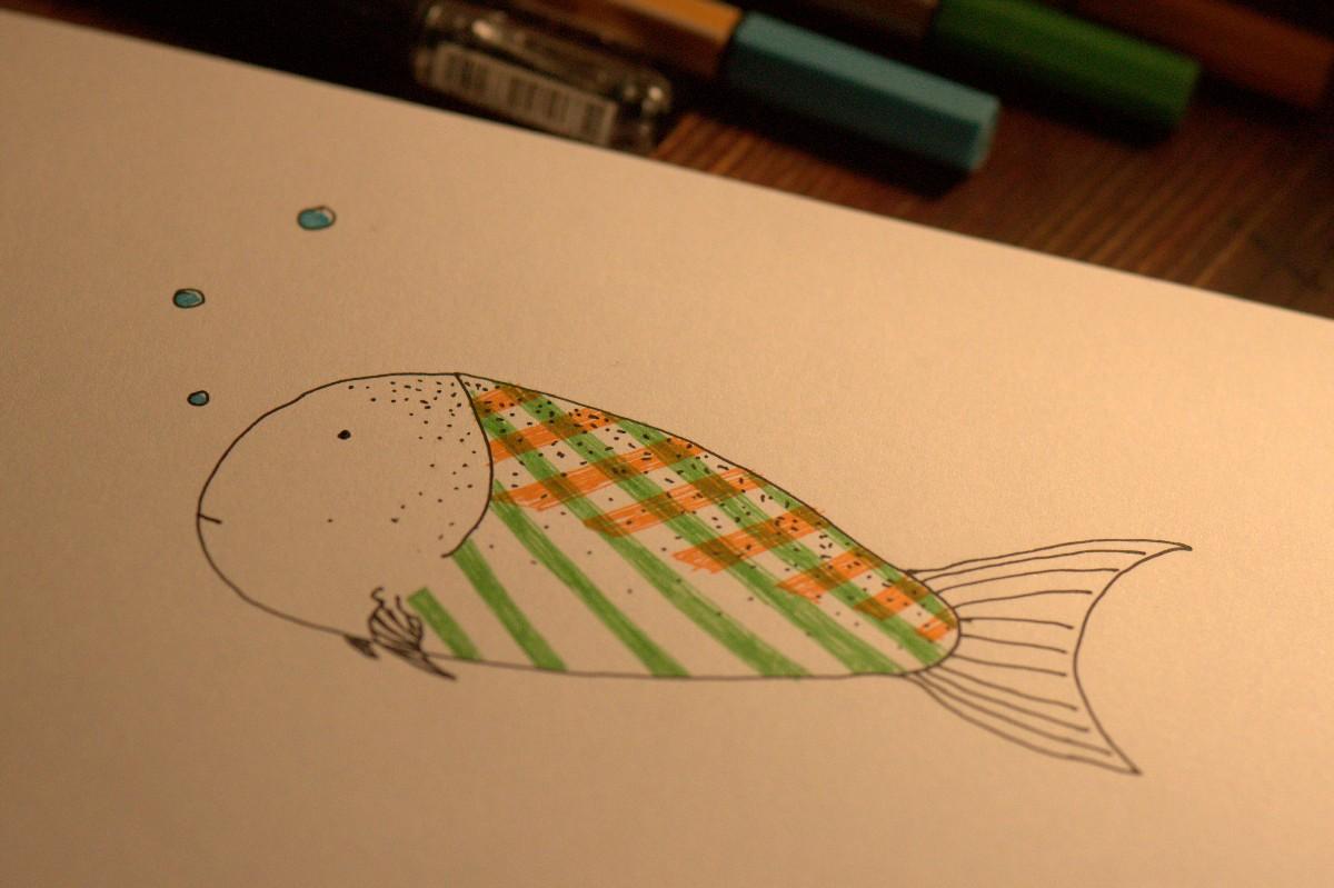 Zeichnung vom Fisch
